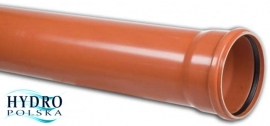 PCV RURA 160/1m/4,0mm  PP 1METR kanalizacja