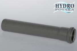 RURA 50/100CM SZARA PCV 1METR kanalizacja