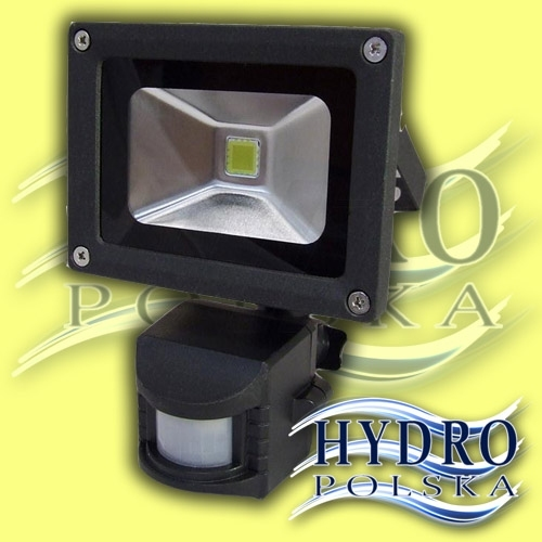Naświetlacz LED 10W z czujnikiem ruchu (Lampa halogenowa LED, czujnik ruchu)