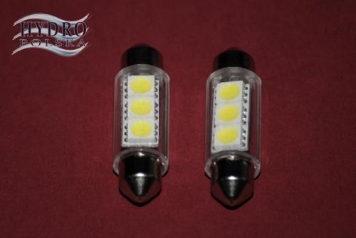 Żarówka LED 1W 12V C5W RURKA 39mm biała zimna POSTOJÓWKI