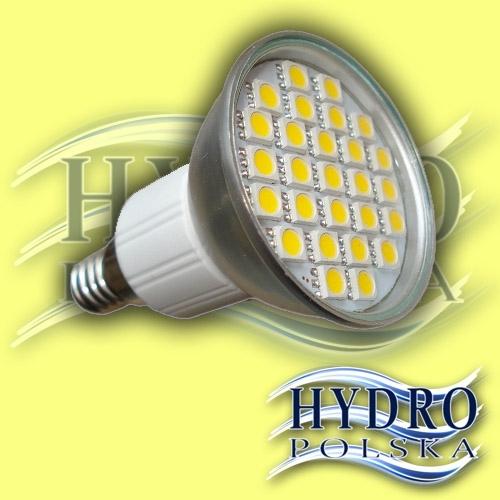 LED Żarówka 4,2W E14 27 led smd 5050 biała ciepła IP44