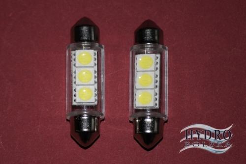 Żarówka LED 1W 12V C5W RURKA 36mm biała zimna POSTOJÓWKI