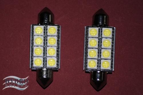 Żarówka LED 4W 12V C5W RURKA 41mm biała zimna CAN.POSTOJÓWKI