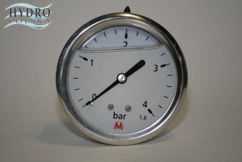 MANOMETR M63 4 BAR TYLNY W GLICERYNIE