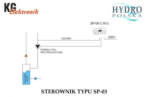 STEROWNIK POMPY CWU SP-04 KG ELEKTRONIK