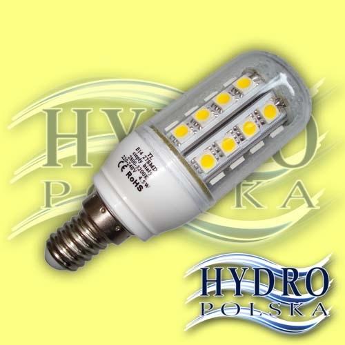 Żarówka 5,5W  E14 27 LED SMD 5050 Biała Ciepła