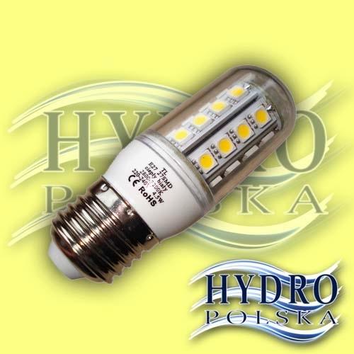 Żarówka 5,5W E27 27 LED SMD 5050 Biała Ciepła